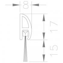 Borstelprofiel zelfklevend 0028131