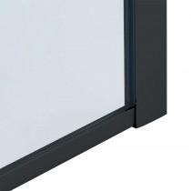 Correctie wandprofiel in mat zwart
