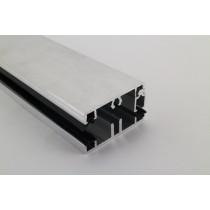 Pext profielset met onderprofiel 7,5mm en zijsluitprofiel voor 10mm