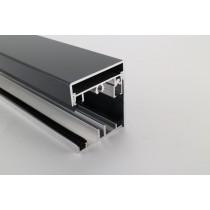 Pext profielset met onderprofiel 7,5mm zijsluitprofiel voor 10mm en kliklijst