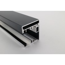 Pext profielset met onderprofiel 7,5mm zijsluitprofiel voor 16mm en kliklijst