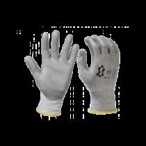Snijbestendige handschoen met polyurethaan coating
