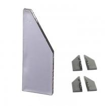 50.A6250401 Eindkappen voor spiegelprofiel