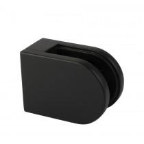 Glasklem type A, vlakke montage, 80AV-52 mat zwart RAL9005