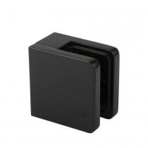 Glasklem type C, vlakke montage, 80CV-52 mat zwart RAL9005
