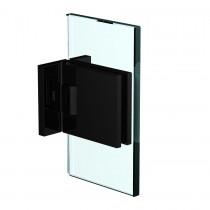 Flamea+ scharnier wand/glas 90º dubbele schroefplaat incl. afdekplaatjes. Mat zwart sauna gebruik