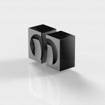 Deurknop douche met grijpholte 148278A mat zwart, zonder Pauli logo