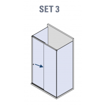 BX-4000 Linea 30 U schuifdeur systeem (set 3)