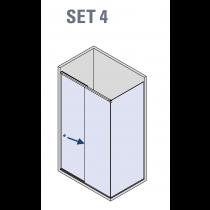 BX-4000 Linea 30 Hoek schuifdeur systeem (set 4)