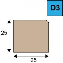 Glaslat model D3