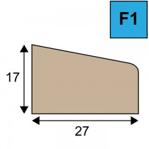Glaslat model F1 - 17 x 27 mm
