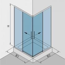 Hoekdouche met 2 deuren en softclose
