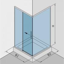 Hoekdouche met 1 deur en softclose