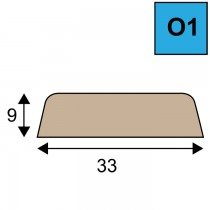 Glaslat model O1 - 9 x 33 mm