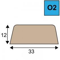 Opdeklat model O2 - 12 x 33 mm