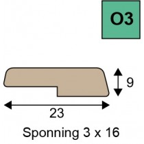 O3 opdeklatten geoptimaliseerd hout
