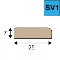 Sponning verhogende glaslat SV 1