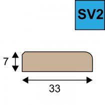 Sponning verhogende glaslat SV 2