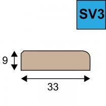 Sponning verhogende glaslat SV 3