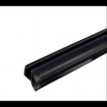 Afdichtprofiel zwart met middenlip en lekdorpel