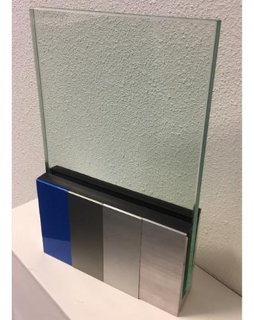 Balustrade van glas