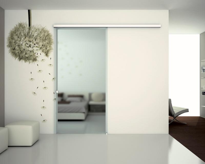 Schuifdeur systeem voor glazen deur